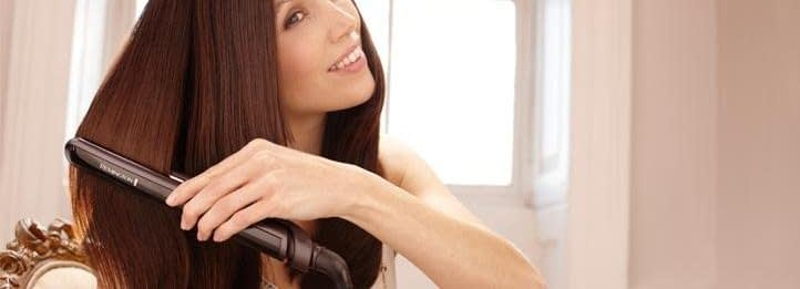 woman with straight hair